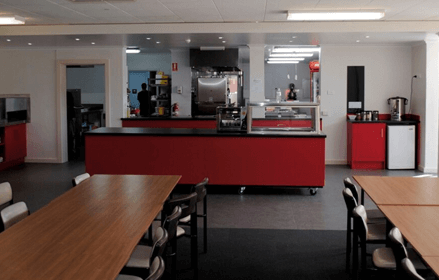 Longy College cafeteria