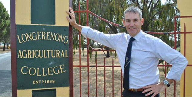 Principal John Goldsmith at the Longy College gates